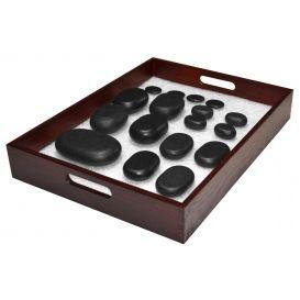 Taca dla bazaltowych kamieni do masażu