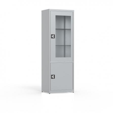 Szafa 2-drzwiowa, przeszklone drzwi, pełne drzwi MDW/1