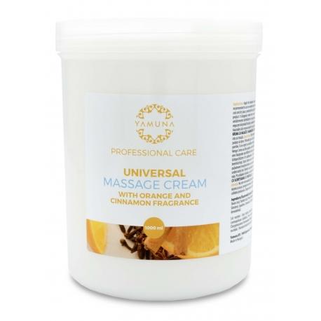 Krem do masażu natłuszczający o zapachu pomarańczy i cynamonu - 1000 ml