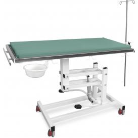 Stół weterynaryjny J-VET 1 H K (hydrauliczny + kółka)