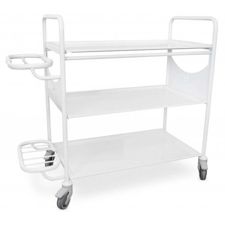 Wózek wielofunkcyjny medyczny z uchwytem na kosz JUVW6