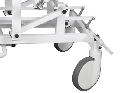 Centralna blokada kół - średnica kół 20 cm (+1250zł) - Wysokość wózka +7,5 cm